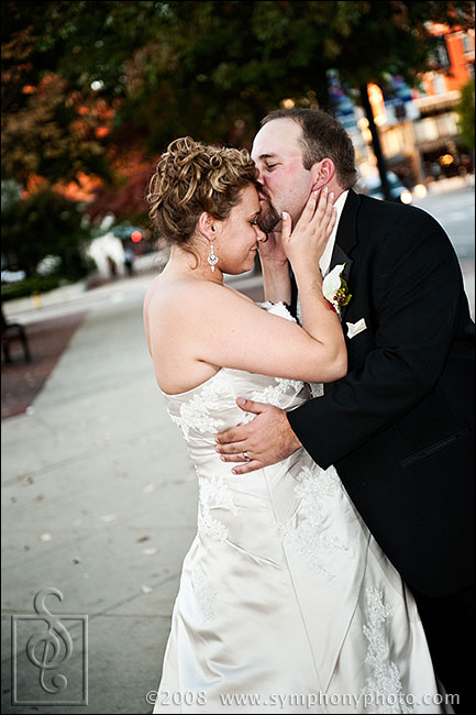 Bride and groom fall formals at the Radisson in Manchester, NH