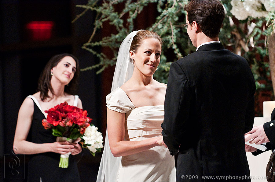 Bride and Groom - Wedding ceremony at the Intercontinental Hotel in Boston, MA