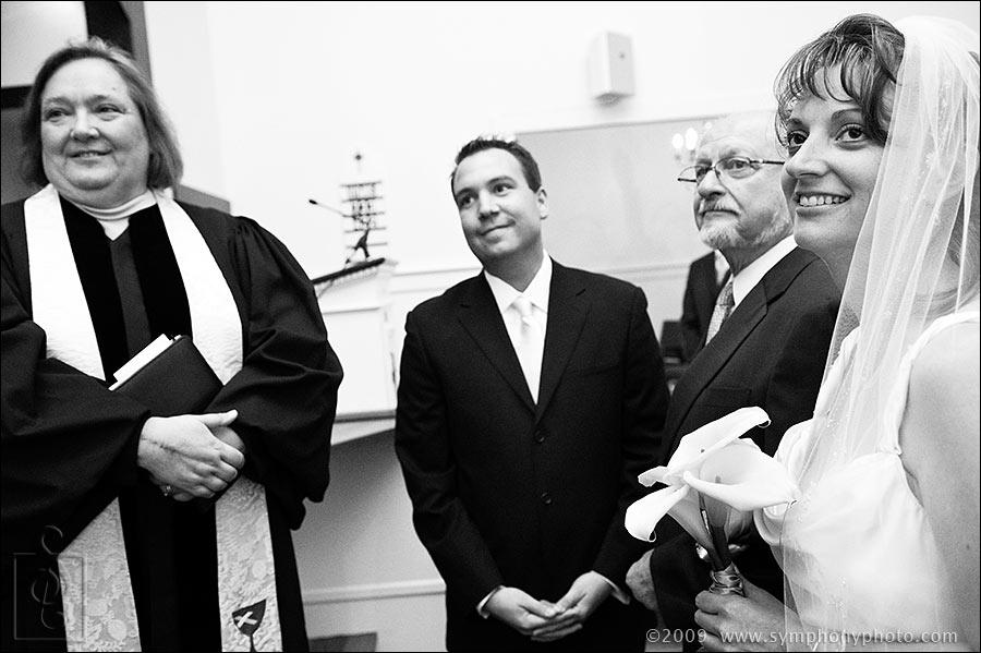 Wedding ceremony, South Chatham Community Church, South Chatham, MA