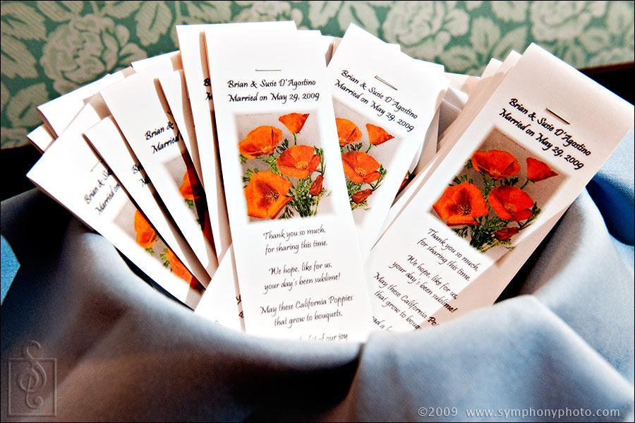 California Poppies as a wedding favor.