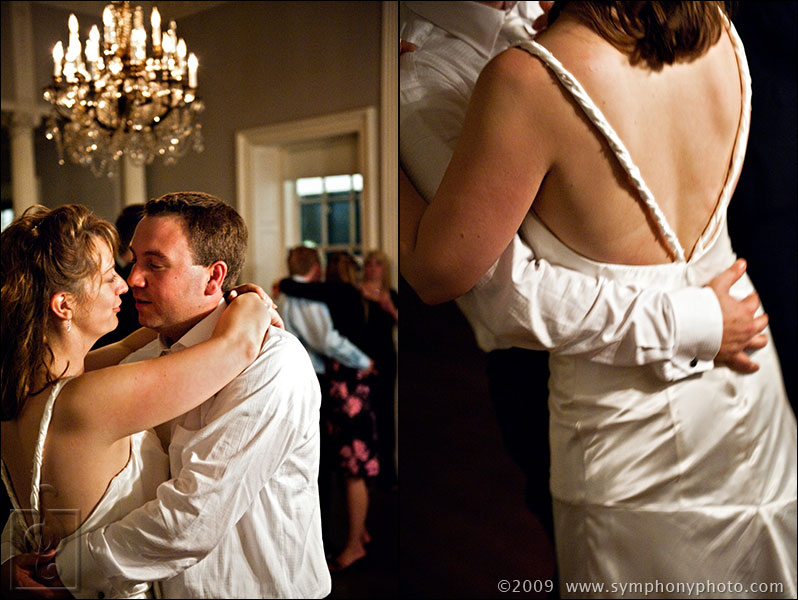 Bride and groom share their last dance at the Lyman Estate in Waltham, MA