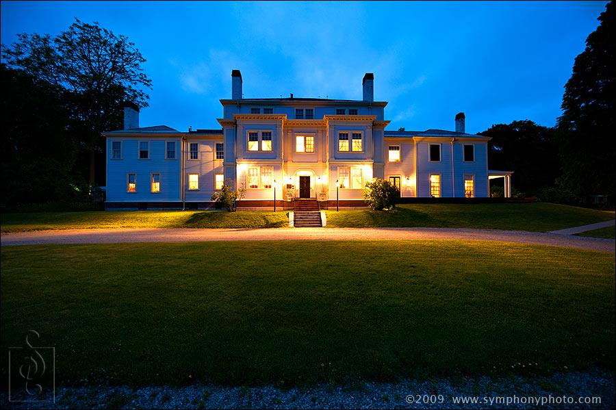 Wedding venues in MA - Lyman Estate at Night
