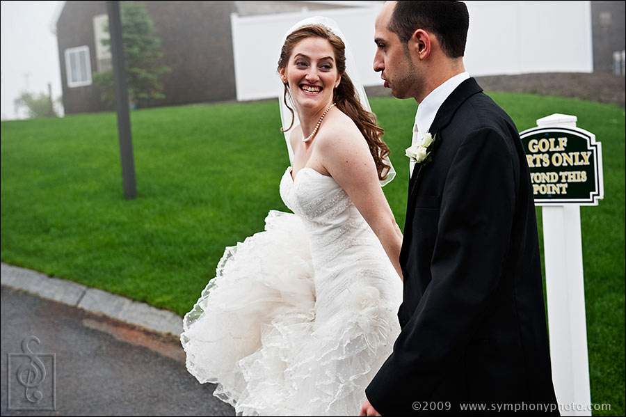 Bride and Groom walking, pre wedding formals at Granite Links Golf Club in Quincy, MA