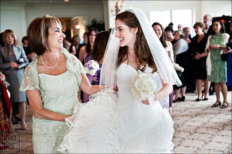 Bride and her mother proceed to the Bedekken - Granite Links Golf Club, Quincy, MA