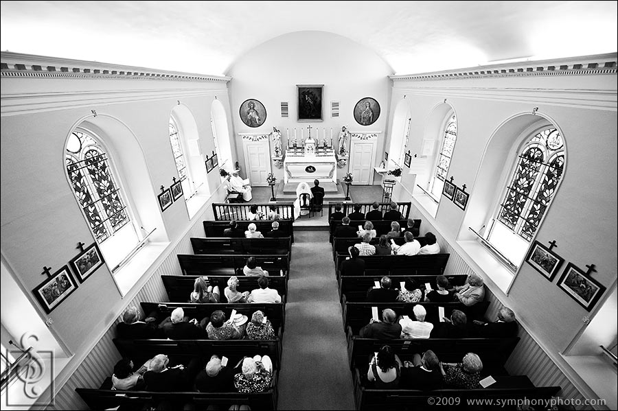 Wedding at St. Patrick's Church in Newcastle, ME