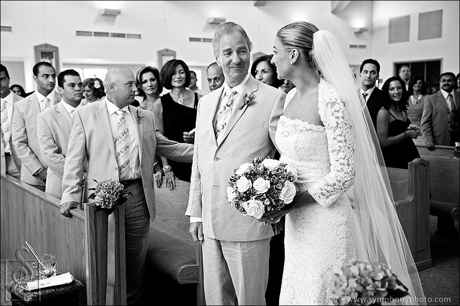 Wedding ceremony at St. Francis Church in Dracut, MA