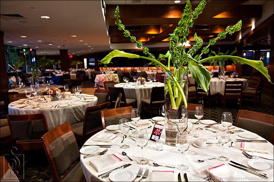 Wedding reception, EMC Club at Fenway Park in Boston, MA