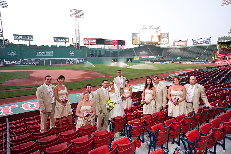 wedding photos at Fenway Park