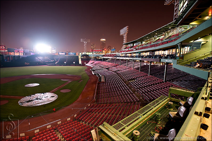 Fenway Park weddings at night