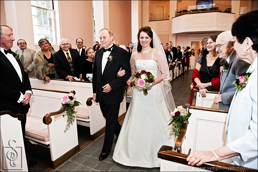 Wedding at the Church of Christ near Dartmouth College