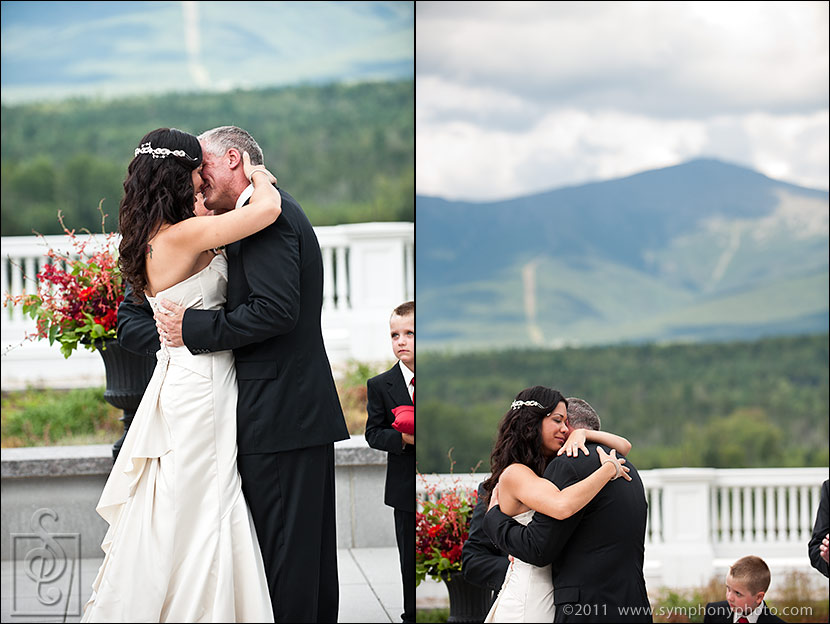 Mount Washinton Hotel - wedding on the Jewell Terrace