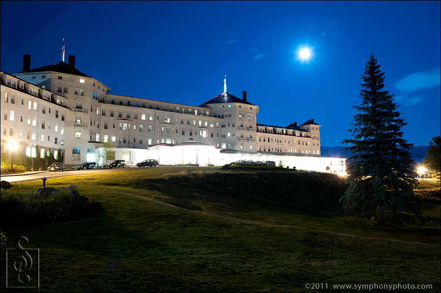 Mount Washington Hotel, Bretton Woods, NH at night