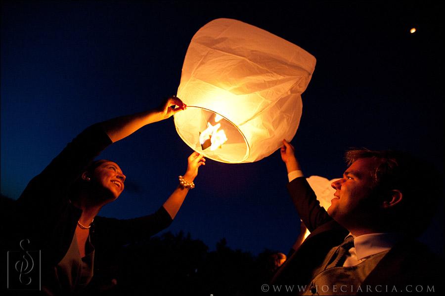 Sky lantern release in NH