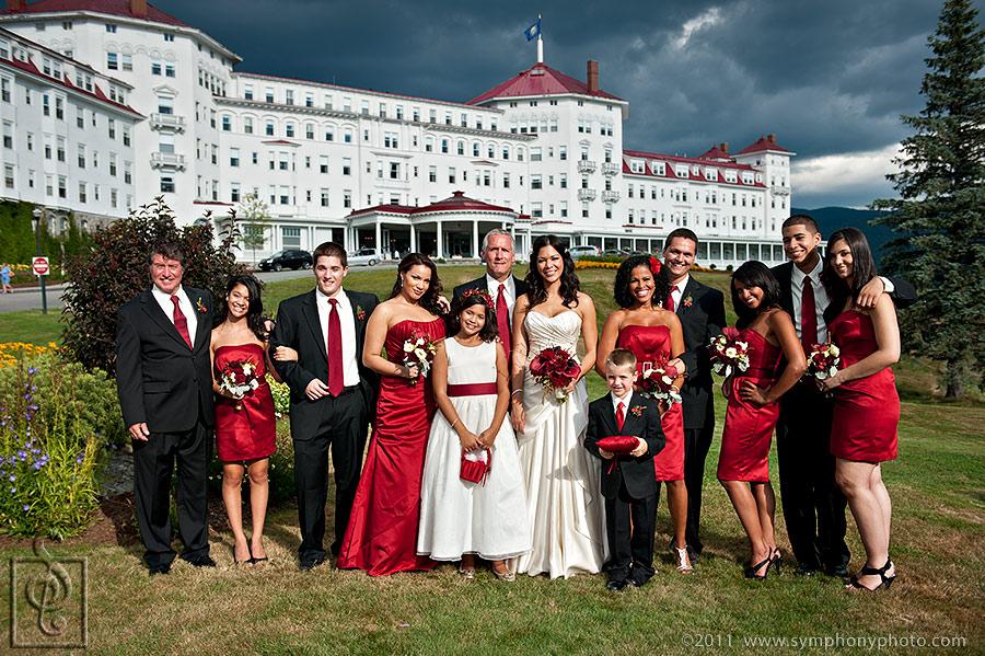 Wedding Photograper Mount Washington Hotel